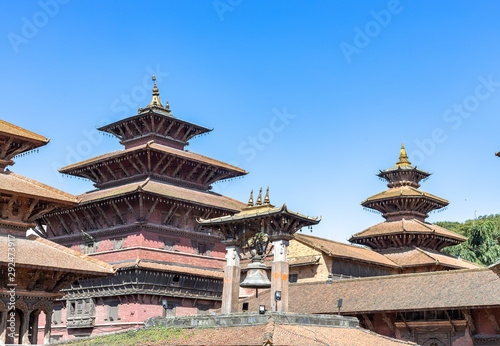Fotografie, Obraz Ancient temples at Patan Durbar Square, Nepal