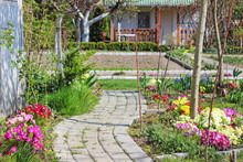 A Paved Path In The Garden Amo...