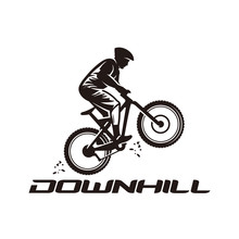 Downhill, Mountain Bike Logo Vector