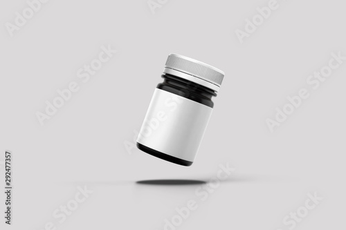 Pinturas sobre lienzo  Blank packaging Plastic bottle for medicine product isolated on white background