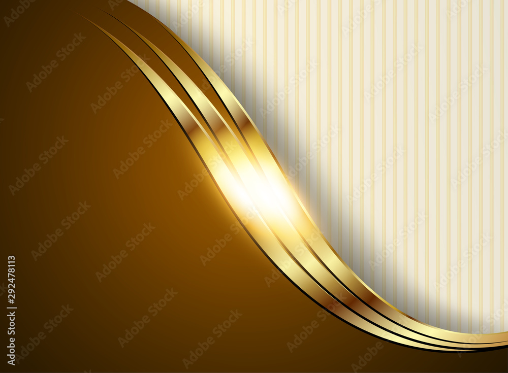 Business background, gold and brown