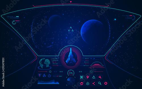 Fotomural spaceship mode