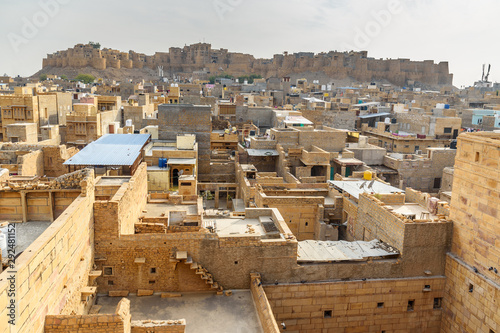 Foto op Plexiglas Marokko View Jaisalmer city and fort from Patwon ki Haveli in Jaisalmer. india