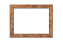 Wood Picture Frame Isolated On...
