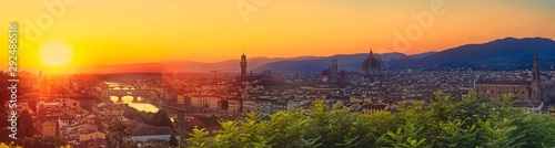 Fototapeta  Huge 100M Pixels Panorama of Firenze, Florence Italy shot from viewpoint Piazzal