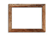canvas print picture - Wood picture frame isolated on white background with clipping path . Image display concept