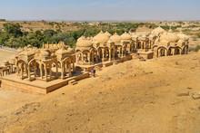 Bada Bagh Ancient Cenotaphs Complex. Jaisalmer. India