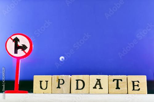 Cuadros en Lienzo Schrift Update mit Update-Vorgang im Hintergrund bei der Konfiguration des Compu