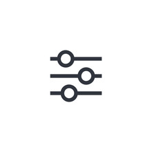 Customize Vector Icon, Settings Symbol. Simple, Flat Design For Web Or Mobile App