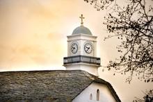 Belfry Of A Greek Christian Orthodox Church. Pelion Mountain, Milies Village.