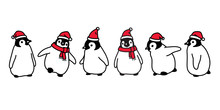 Penguin Vector Christmas Santa...