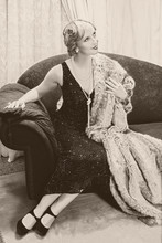 Vintage Woman On Chaise-longue