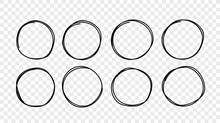 Hand Drawn Circle Sketch Frame...