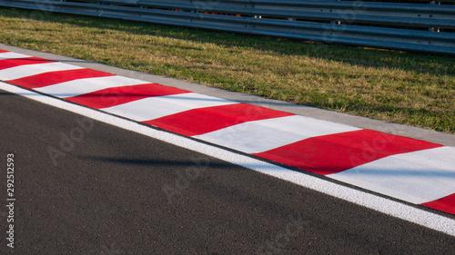 Motor racing circuit Red and White Kerb