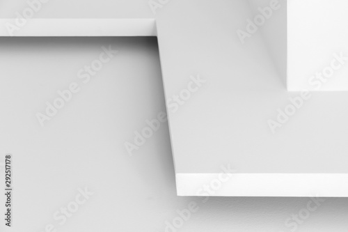 Abstract white architectural background