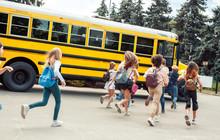 Classmates Running To School B...