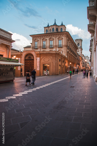 Chieti, Italy - August 2019: Historic center of Chieti, in Abruzzo during the bl Canvas Print