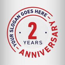 2 Years Anniversary Logo Templ...