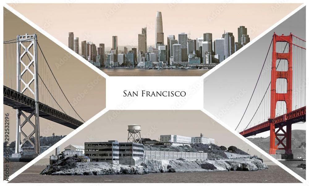 Fototapeta San Francisco postcard