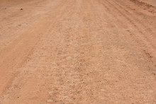 Red Mud Dry Soil Road Pavement Low Angle View Background Texture