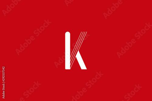 Carta da parati  Initial K Letter Logo Design Vector Template