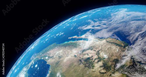 Obraz na plátně  The Earth globe from Space
