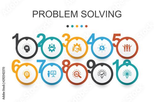 Cuadros en Lienzo problem solving Infographic design template