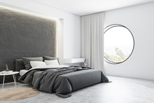 Corner Of Gray And White Master Bedroom