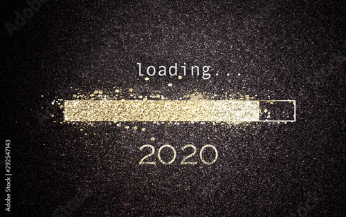 Fotomural  2020 New Year concept loading a screen