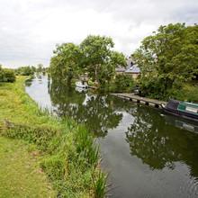 The River Nene Near Wansford, Cambridgeshire, England, UK.