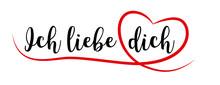 Ich Liebe Dich Mit Rotem Herz
