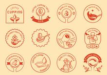 Coffee Cupping Logo Badge Design