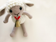 Cute Lamb On White Background.gift,toy,knit.