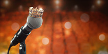 Microphone And King Crown. Mus...