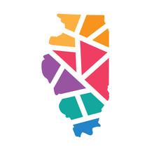 Colorful Geometric Illinois Ma...