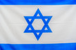 Israel flag background. Blue and white flag of Israel.