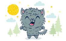 Werewolf In Kawaii Style