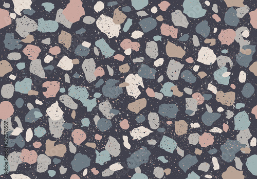 Colorful pattern with terrazzo texture