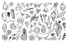 Doodle Elements. Sketch Decora...