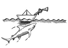 Drawn Visionary In Boat Being ...