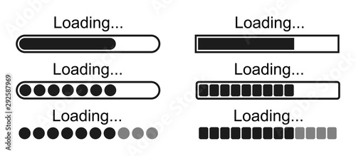 Set loading bar icons – stock vector