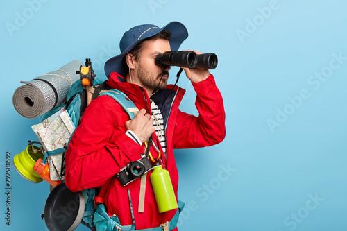 Carta da parati Trekking, camping, hiking concept
