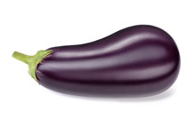 Single Ripe Eggplant Isolated ...