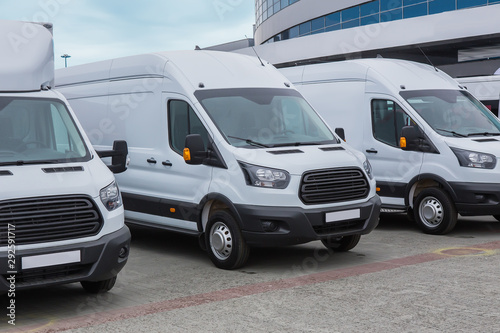 minibuses and vans outside - 292591717