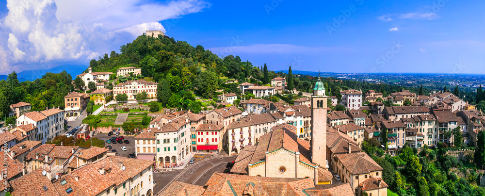 Fototapeta Most beautiful medieval villages (borgo) of Italy series - Asolo in Veneto region