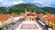 Leinwanddruck Bild - Marostica - charming medieval town, calling Chess village. Veneto. Italy