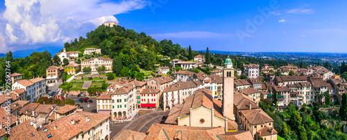 Most beautiful medieval villages (borgo) of Italy series - Asolo in Veneto region - fototapety na wymiar