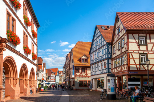 Obraz Altstadt, Lohr am Main, Bayern, Deutschland  - fototapety do salonu