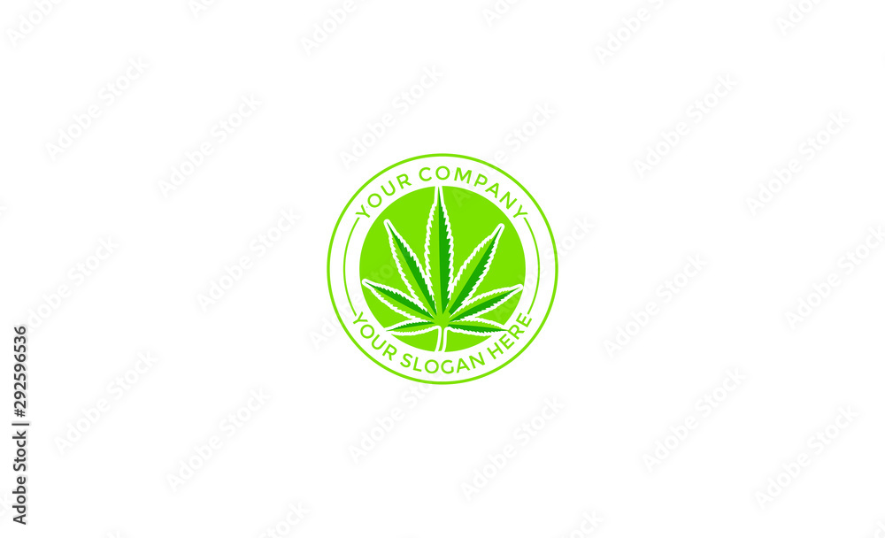 Fototapety, obrazy: Creative Cannabis Leaf Vector Logo Icon Template for CBD Cannabidiol Cannabis Hemp Marijuana Medical Pharmaceutical Industry And Bussiness Company