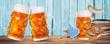 Leinwanddruck Bild - Oktoberfest Bier